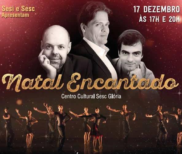 Três tenores, companhia de ballet e orquestra camerata em apresentação emocionante durante o natal Encantado da Indústria e do Comércio