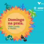 Vale e Sesi promovem atividades de recreação e lazer na praia de Camburi