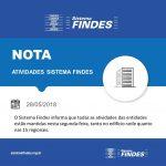 NOTA - Atividades Sistema Findes