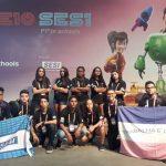 Carros dos alunos do Sesi Maruípe ficam entre os mais rápidos do Festival de Robótica